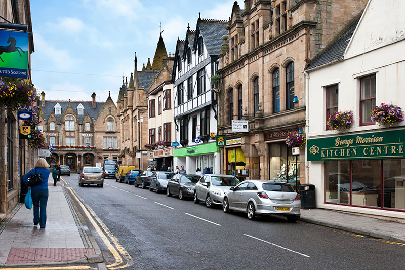 High Street Tain Ross Cromarty Scotland