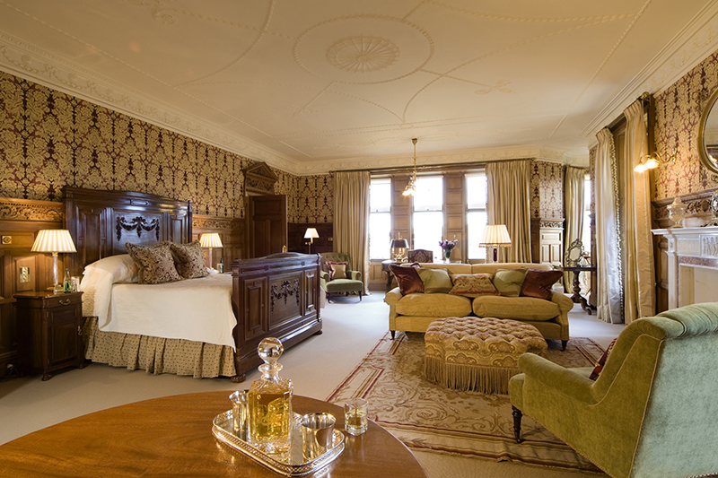Skibo Castle bedroom