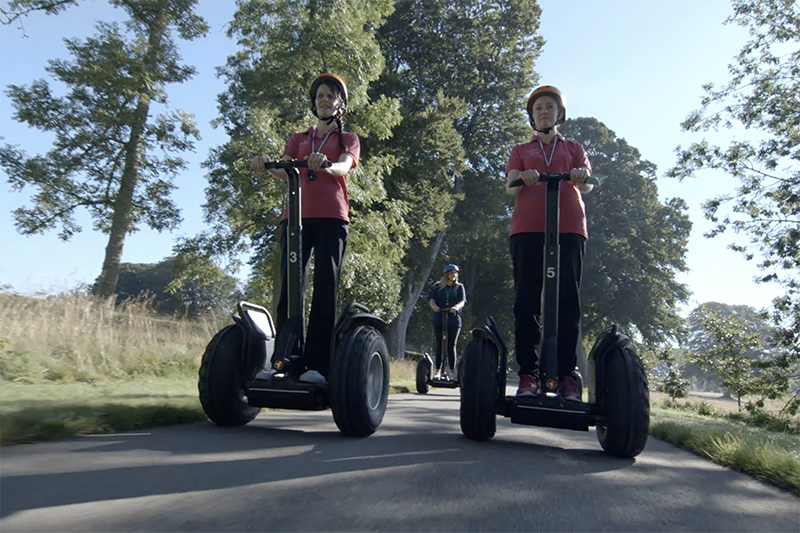 segway on Skibo estate