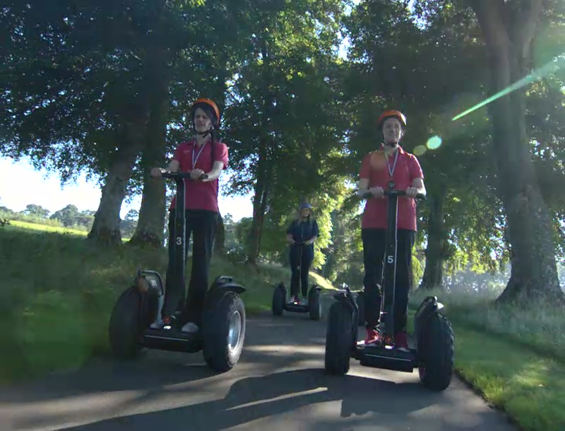 Segway lessons at Skibo